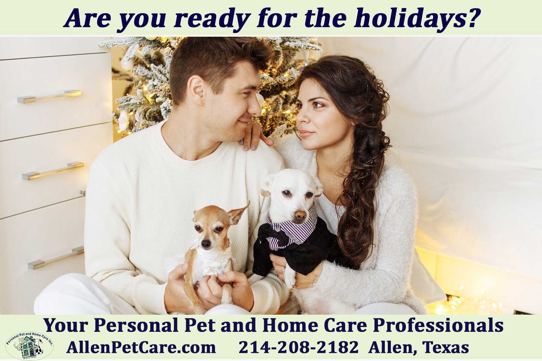 pet sitting for the holidays in Allen, Texas